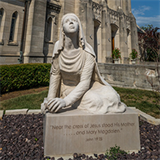 Parish honors its patroness with works of art