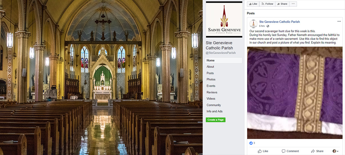 Ste. Genevieve Parish uses social media to put on a scavenger hunt for the sacred