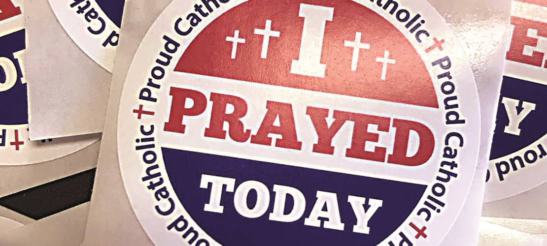Louisiana parishioners find 'I prayed' stickers help evangelize
