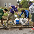 Students display work ethic at neighborhood cleanup