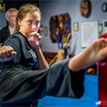 Karate competitors gain confidence, friendships