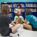 Volunteers transform school's library/learning center