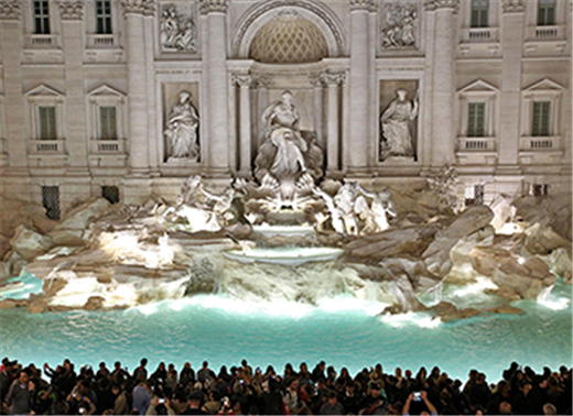 Trevi Fountain coins to continue bringing fortune to Rome's needy