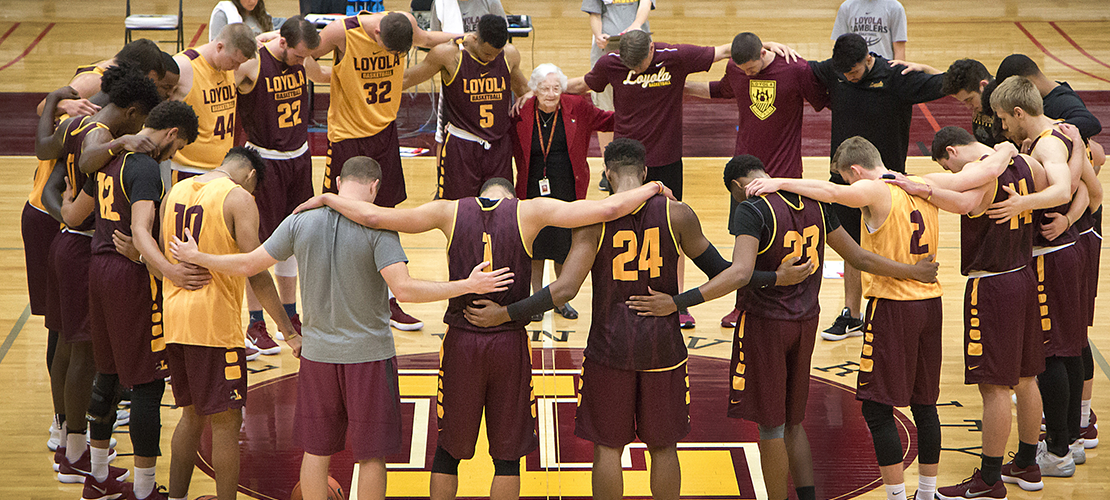 Pregame prayer, solid teamwork clinched wins for Loyola, says Sister Jean