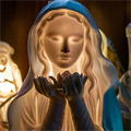 Statues of Mary offer invitations to seek Jesus through the intercession of His Blessed Mother