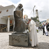 Pope Francis draws lessons from Mother Teresa in city of her birth