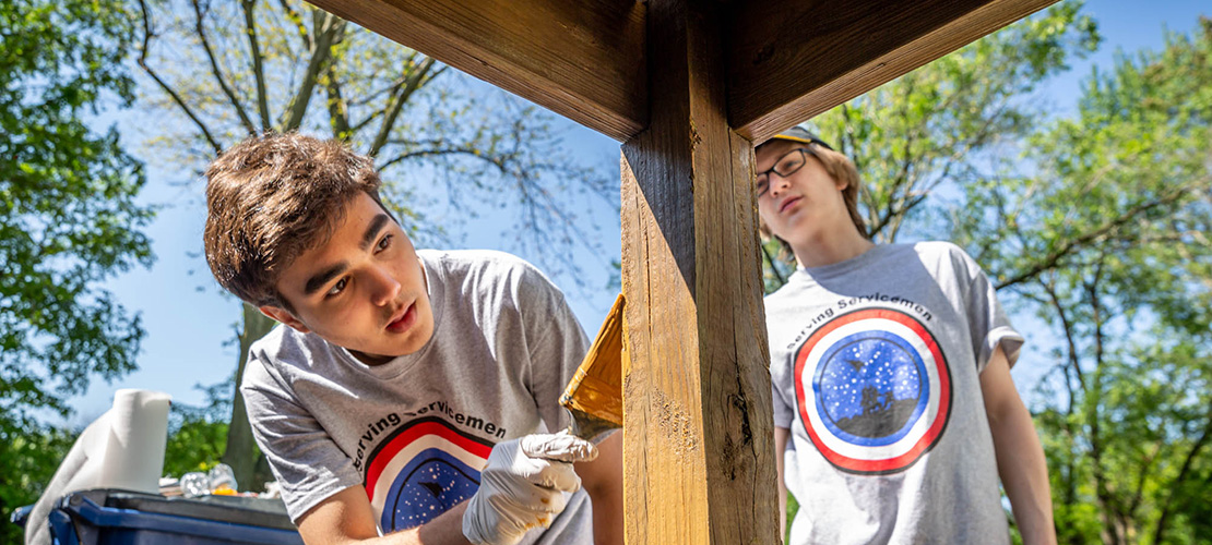 CBC students give back to area veterans through Serving Servicemen