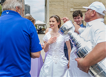 'Grace' helped couple enjoy wedding in midst of Blues rally
