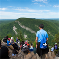 Hike, mountaintop Mass about praying, evangelizing, father-son bonding