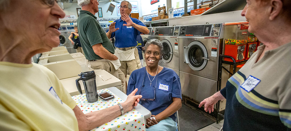 St. Vincent de Paul Parish's Suds of Love laundry ministry forms bonds