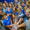 """An amazing summer"" with the Stanley Cup continues with fall visit to St. Peter School in Kirkwood"