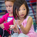 The Rosary is a special way to love Mary, preschoolers at The Little School at Ascension learn