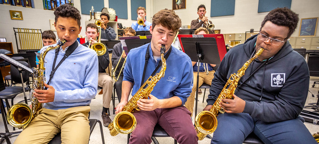Hard work pays off for jazz musicians at SLU High