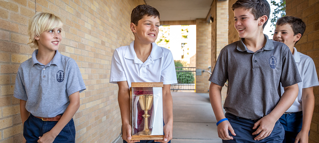 Vocations chalice one way St. Clement of Rome School prays for vocations