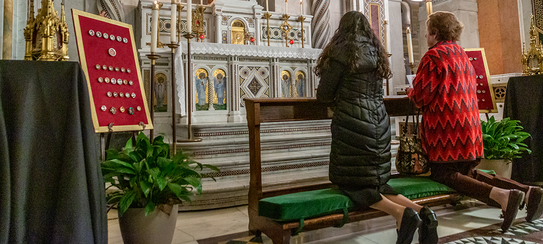 Display of relics at Cathedral Basilica of Saint Louis a reminder that Catholics are 'surrounded by your friends in heaven'