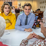 Cybersecurity students provide seniors with tips