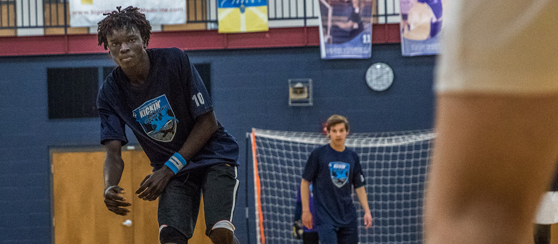 Fast-paced futsal match between St. Dominic, St. Louis Roadies fosters community connections and awareness of homelessness