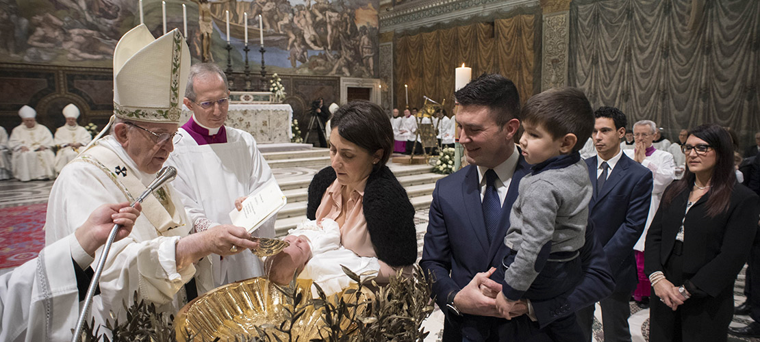 POPE'S MESSAGE | Gift of baptism is to be cherished