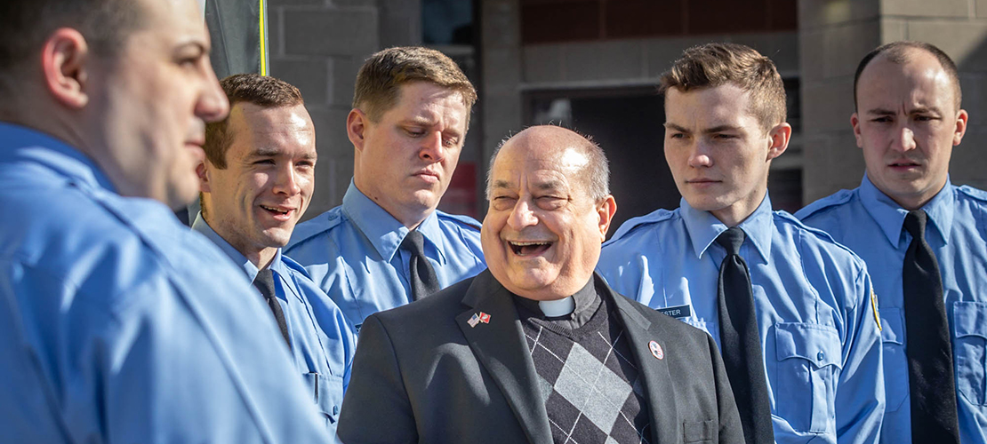 Fire academy class named after Eureka fire district chaplain Father Leo Spezia