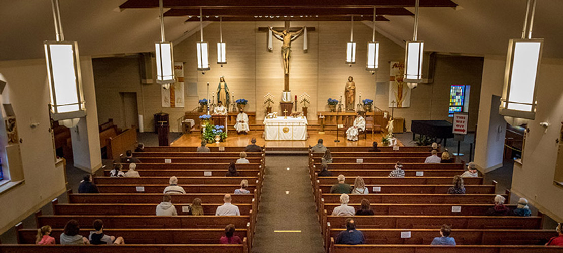 Clockwork-like procedures in place as parish returns to public Masses