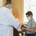 Distribution of Communion after Mass is an option exercised by some parishes in the archdiocese