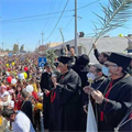 Syriac Catholics, led by patriarch, process through streets of Qaraqosh