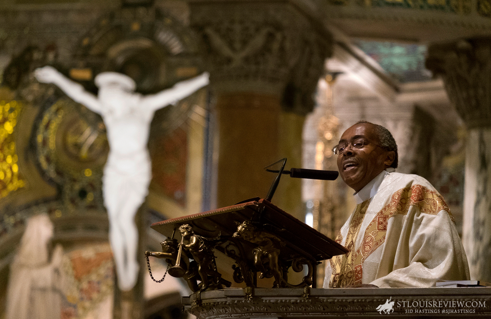 Father Arthur J. Cavitt, pastor of St. Nicholas Parish and director of the St. Charles Lwanga Center, delivered the homily at the 42nd annual Archdiocesan Mass for the Preservation of Peace and Justice commemorating the legacy of Dr. Martin Luther King, Jr.