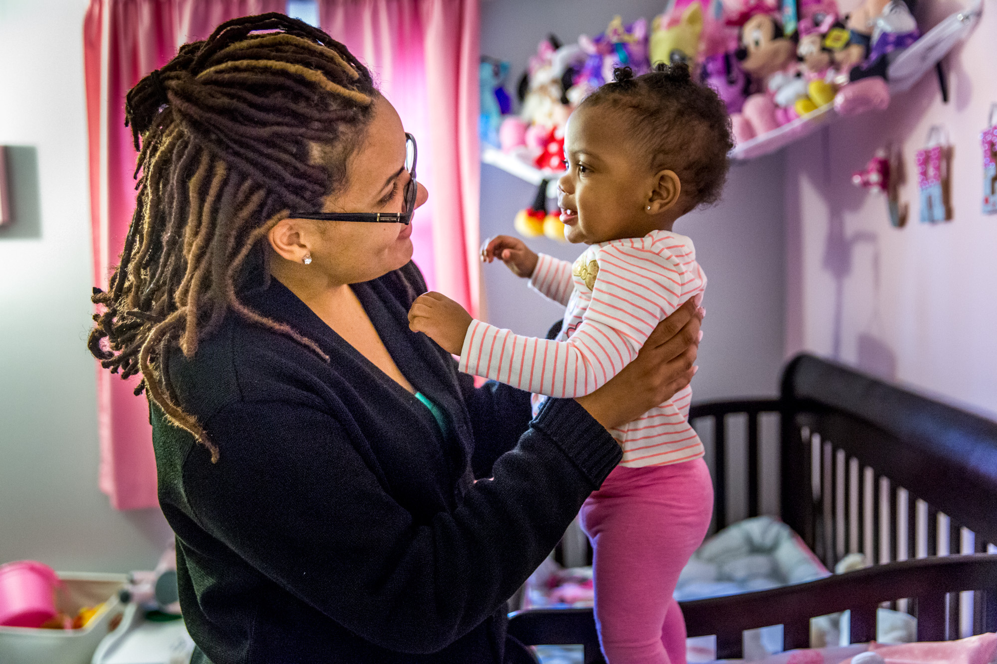 Chanelle Blair missed several months of work after her daughter Chayenne was born, leaving the family financially stretched. She received assistance for diapers from the St. Louis Diaper Bank and Parents as Teachers.