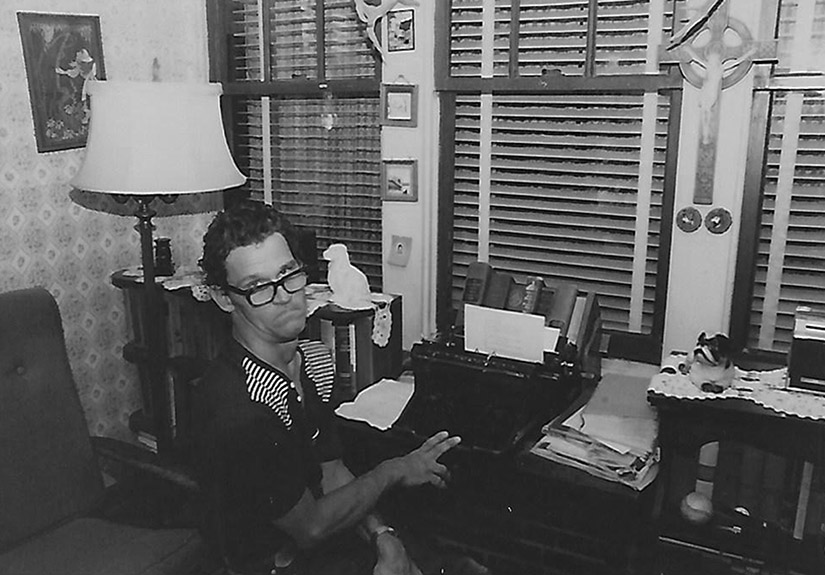 "John R. Groebl, nicknamed ""Brother"" by his family, was dedicated to writing with a typewriter, which he used by steadying his wrist and typing with one finger."