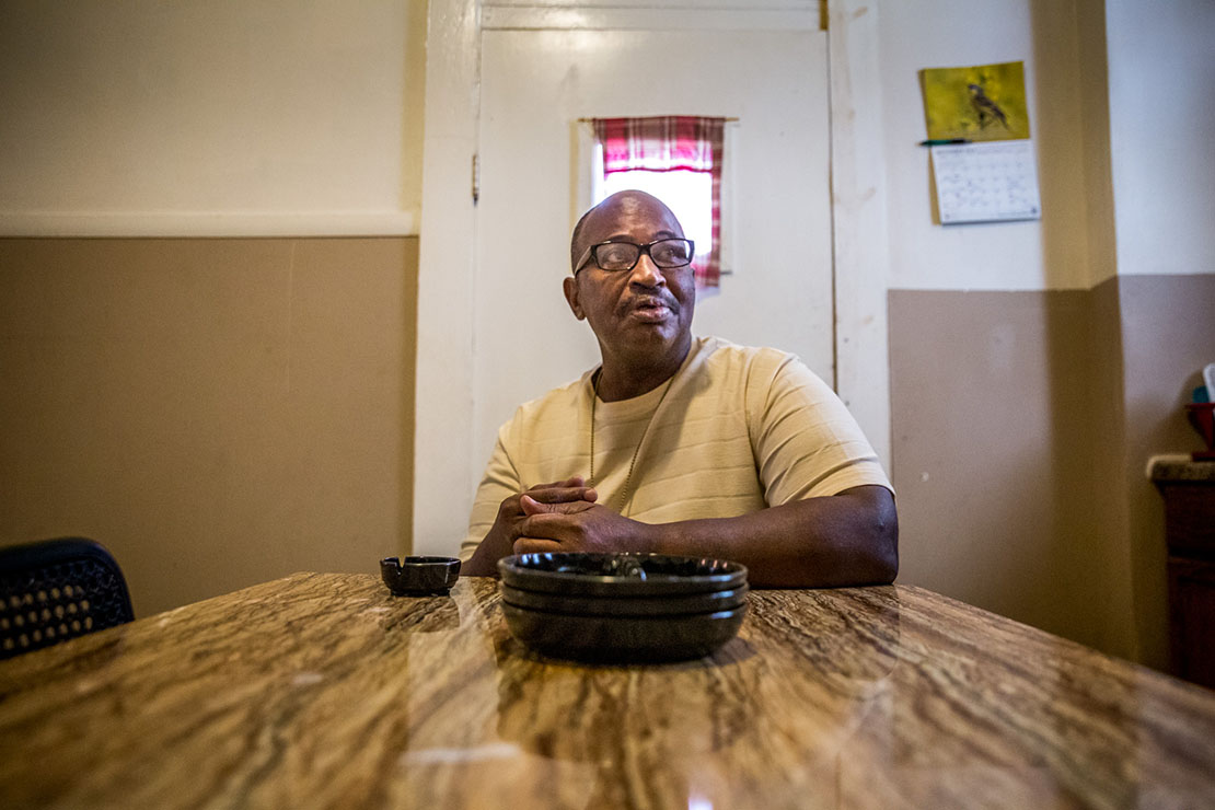 Brian Culton, a former Marine, fell on hard times after his employer died costing him not only shelter but income. Through help from St. Patrick Center, Brian lives humbly in a south city apartment which he maintains with great care and pride.