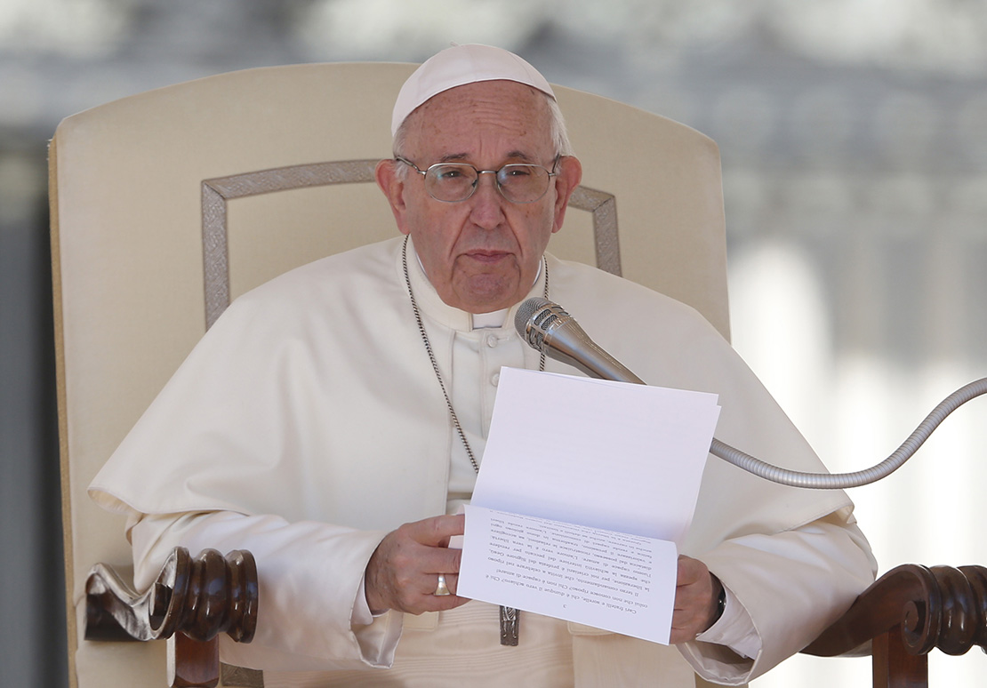 Pope Francis spoke during his general audience in St. Peter's Square Sept. 12.