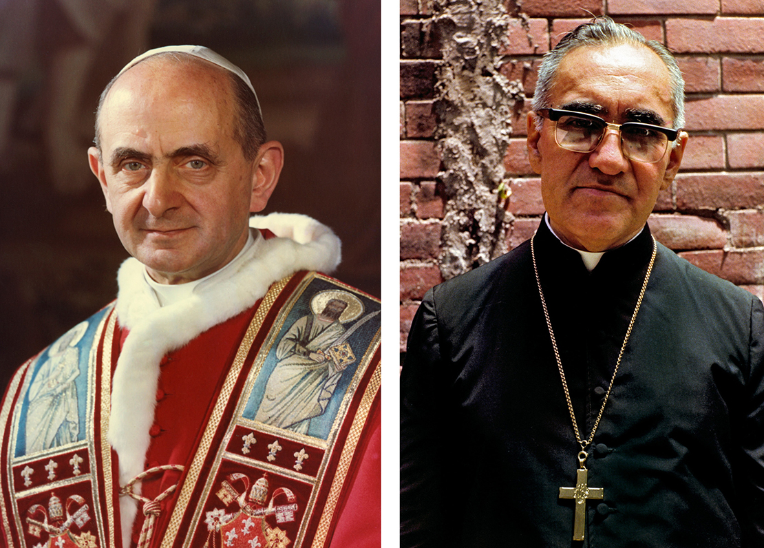 Left to right, Blessed Paul VI and Blessed Oscar Romero