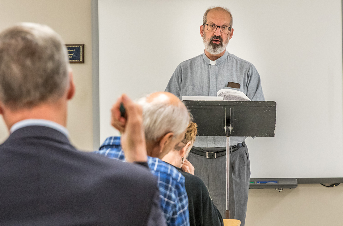Deacon Samuel Lee, a lobbyist for of Campaign Life Missouri, spoke during a workshop Oct. 6 at the Missouri Catholic Conference 2018 Annual Assembly.