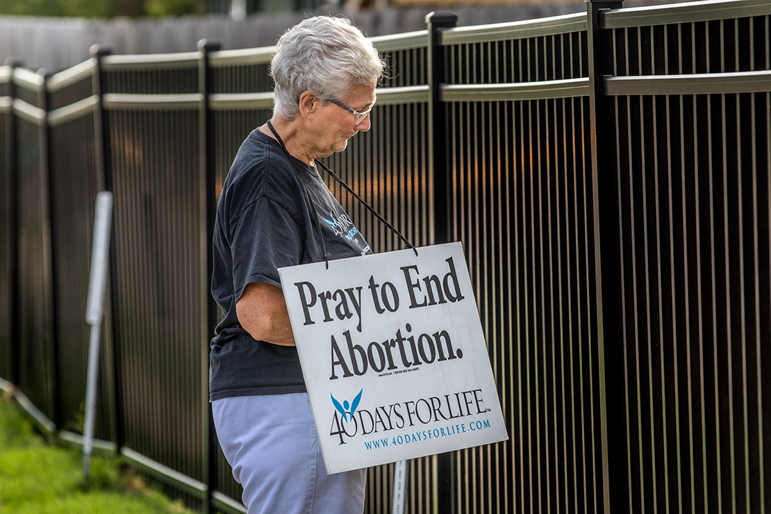 40 Days for Life supporter Doris Schmidt prayed outside of the Planned Parenthood building on Oct. 6 in Columbia. A federal judge denied Planned Parenthood's motion for a temporary restraining order to block the law requiring abortion providers to have admitting privileges at nearby hospitals.
