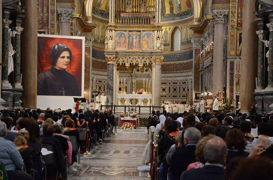 The portrait of Blessed Clelia Merloni at her Mass of Beatification on Nov. 3 at the Basilica of St. John Lateran in Rome.