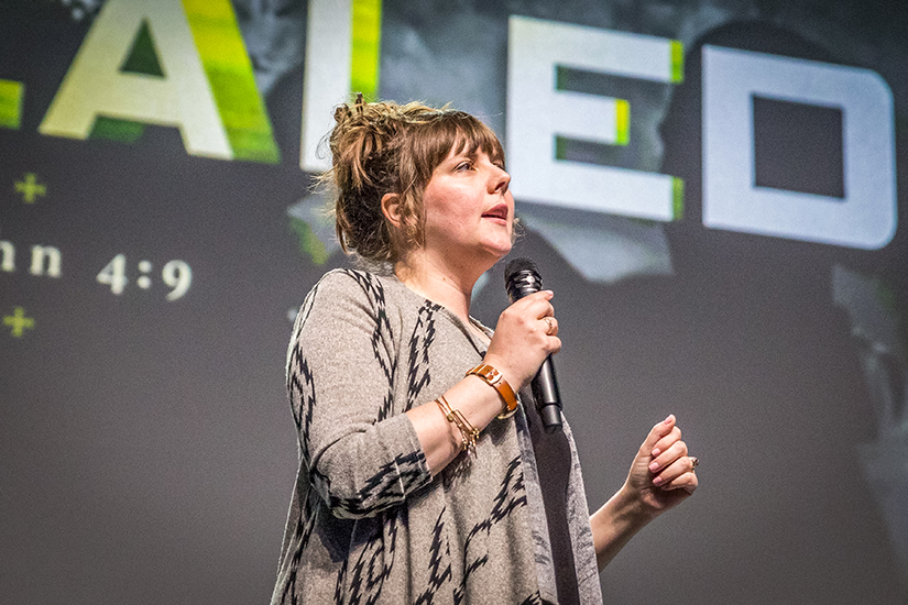 Rachel Leininger, chastity educator for the REAP Team, spoke at the SteubySTL youth conference in 2018.