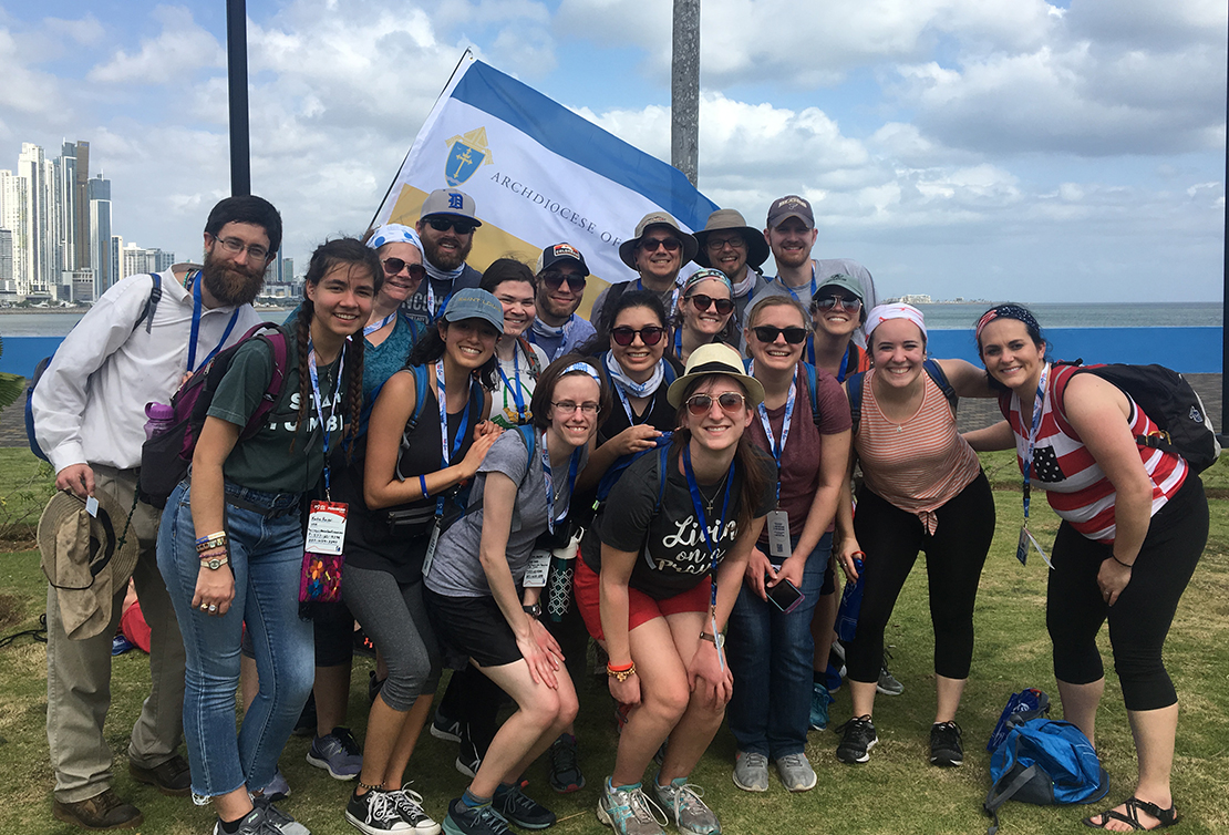 Young adults from the Archdiocese of St. Louis attended World Youth Day in Panama in January. The trip was organized by the archdiocesan Office of Young Adult Ministry.