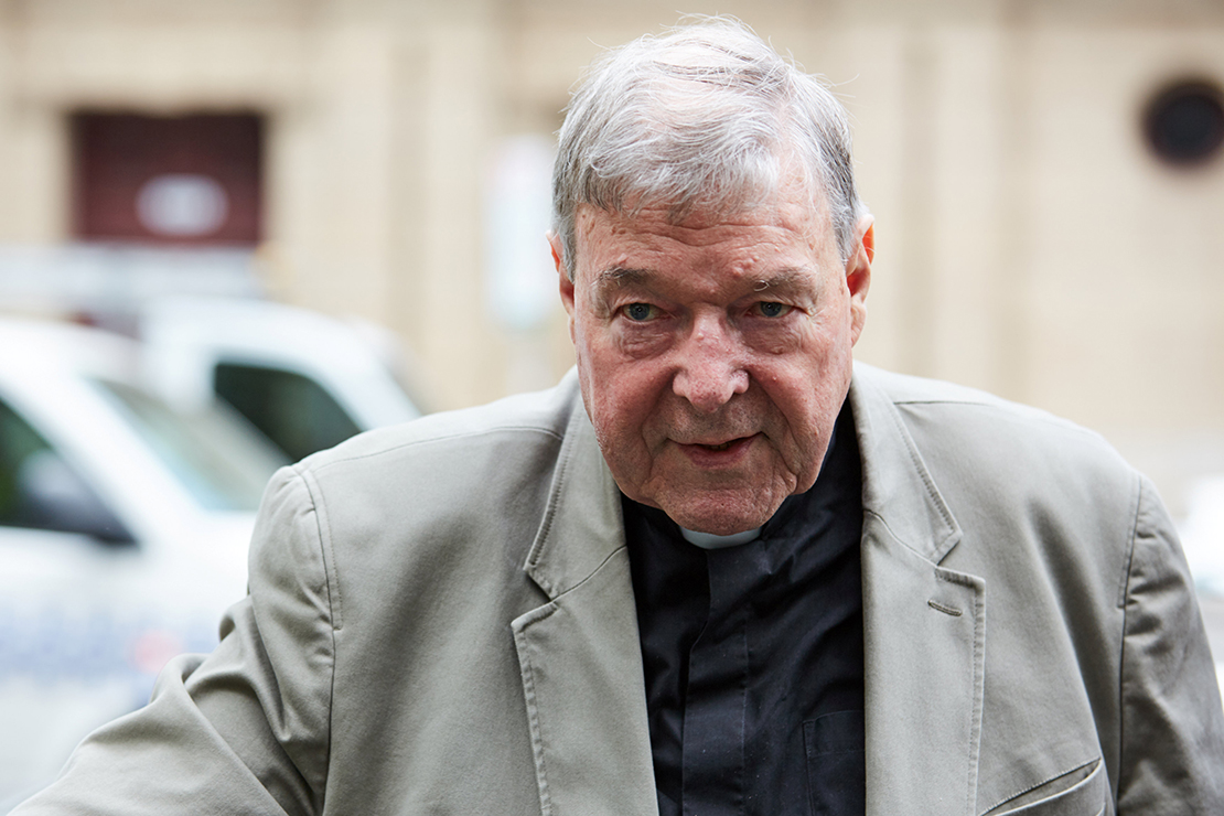 Australian Cardinal George Pell arrived at the County Court in Melbourne Feb. 26. An Australian court found Cardinal Pell guilty on five charges related to the sexual abuse of two 13-year-old boys. Sentencing is expected in early March, but the cardinal's lawyer has announced plans to appeal the conviction.