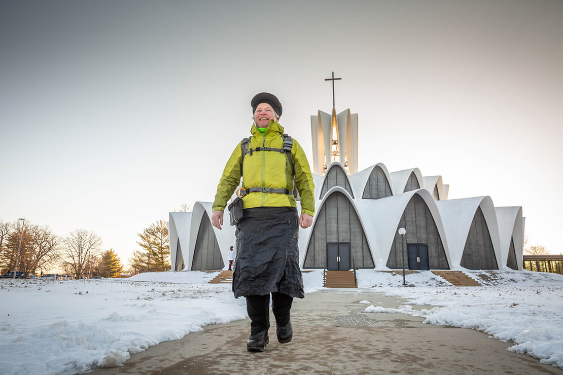 Pilgrim Ann Sieben embarked on a solo pilgrimage beginning at St. Anselm Church in Creve Coeur. Sieben will be walking to Denver to raise awareness of Servant of God Julia Greeley, who was born in Hannibal, Mo., and worked in St. Louis.