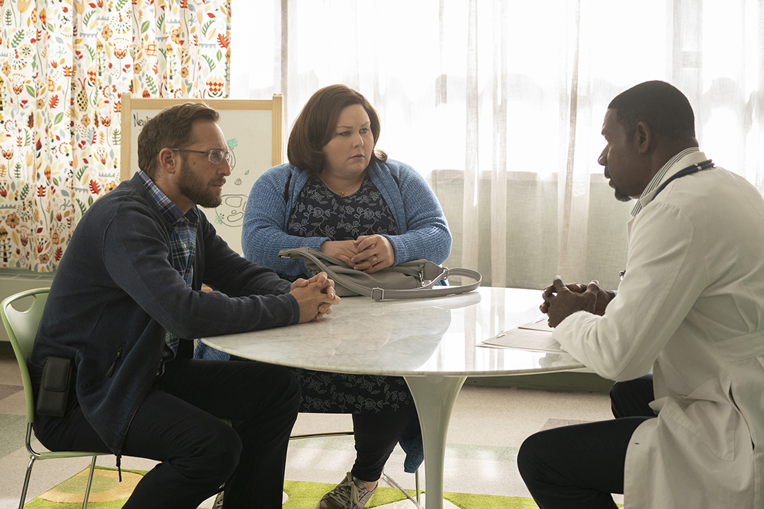 "Josh Lucas, left, who plays Brian Smith, Chrissy Metz, who plays Joyce Smith, and Dennis Haysbert, who plays Dr. Jeremy Garrett, star in the movie ""Breakthrough."" The movie tells the story of John Smith, who recovered at SSM Health Cardinal Glennon Children's Hospital in St. Louis after falling through an icy lack and remaining under water for 20 minutes."