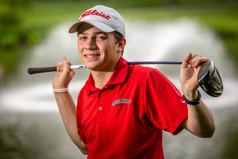 Chaminade golfer Josh Heidenry tied for third at the Missouri Class 4 boys state championship with teammate Ryan Walsh.