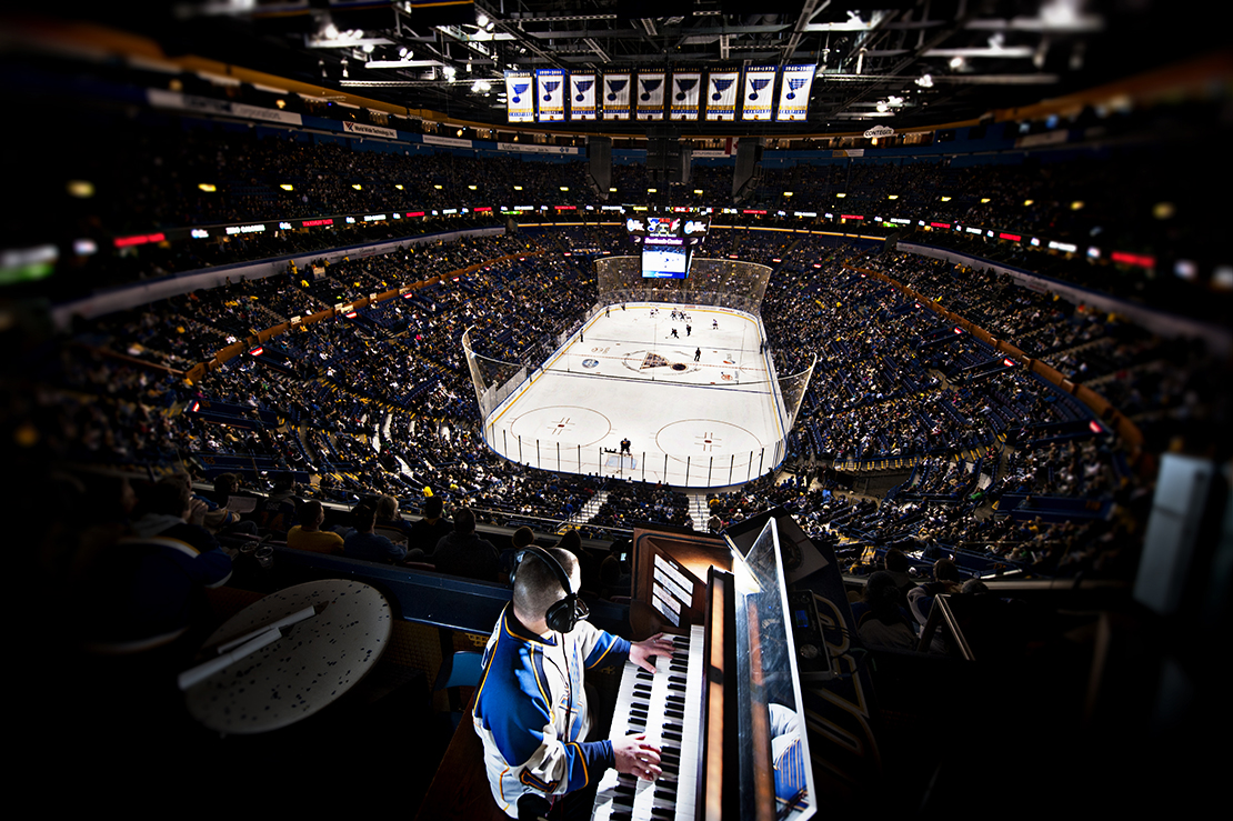 St. Louis Blues organist Jeremy Boyer ignites faith, serves God