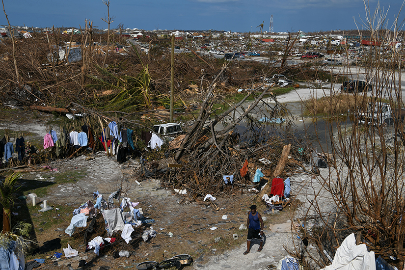 Catholic Relief Services is coordinating aid for communities impacted by Hurricane Dorian, such as this area in Marsh Harbour, Bahamas.