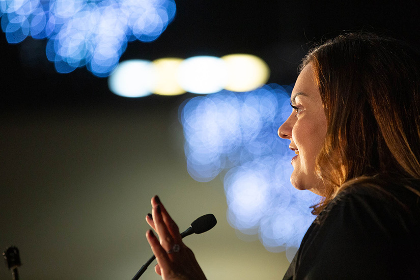 Abby Johnson, founder of Then There Were None, was the keynote speaker at the Respect Life Apostolate convention. She told attendees that the pro-life movement should be one of conversion, bringing others into a relationship with Christ.