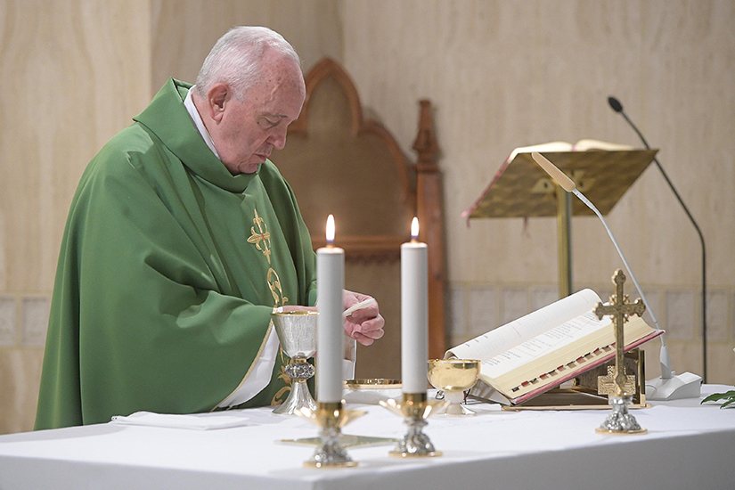 Pope Francis celebrated morning Mass in the chapel of his residence, the Domus Sanctae Marthae, at the Vatican Oct. 29.