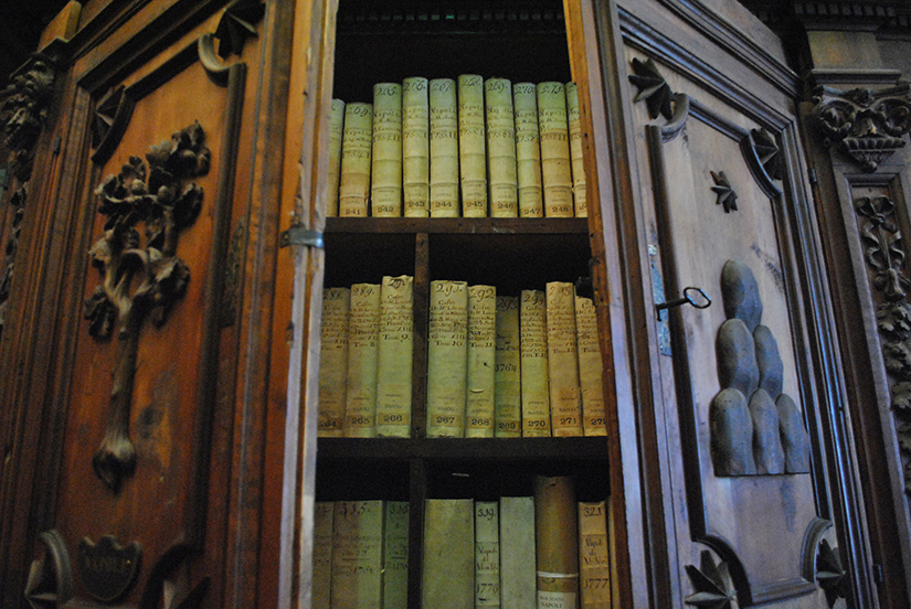 Books are pictured in a cabinet in the Vatican Apostolic Archives. Pope Leo XIII founded the Vatican School of Paleography, Diplomatics and Archive Administration in 1884, just a few years after he opened the archives to the world's scholars.