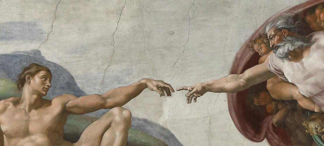 Scene from the Sistine Chapel painted by Michelangelo