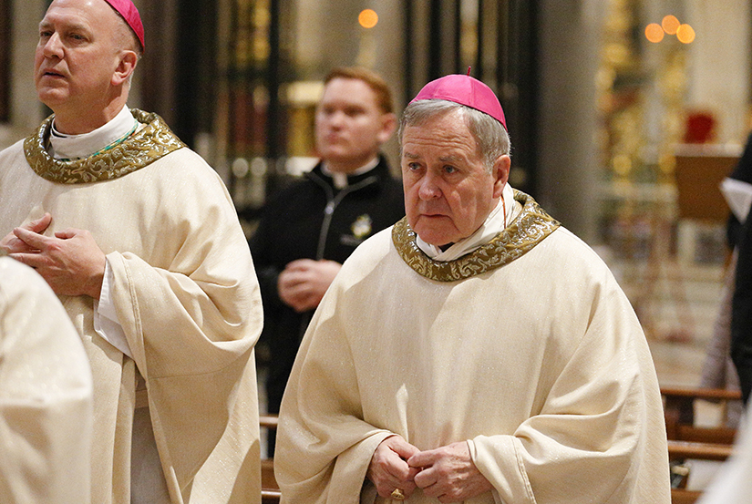 "Archbishop Robert J. Carlson concelebrated Mass with other U.S. bishops from Iowa, Kansas, Missouri and Nebraska at the Basilica of St. Mary Major in Rome Jan. 14. The bishops were making their ""ad limina"" visits to the Vatican to report on the status of their dioceses to the pope and Vatican officials."