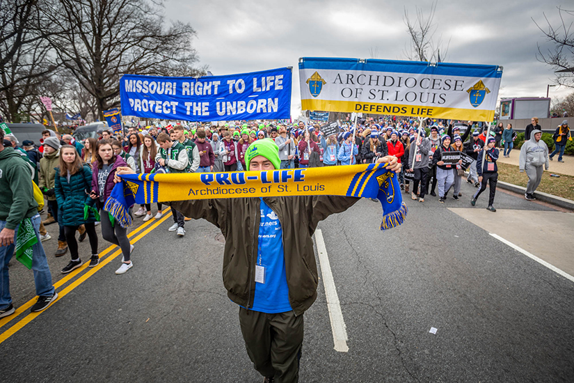 Michael Forget Jr. from St. John Paul II Peparatory School walked in the March for Life in Washington, D.C. on Jan. 24. More than 2,400 people were part of the Generation Life pilgrimage, which is sponsored by the archdiocesan Office of Youth Ministry.