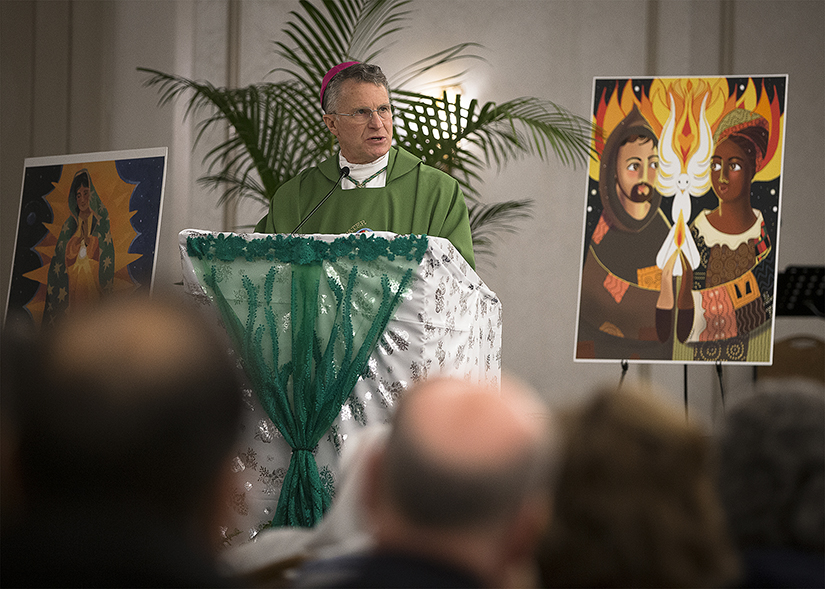 Archbishop Timothy P. Broglio of the U.S. Archdiocese for the Military Services delivered the homily during morning Mass Jan. 27 at the Catholic Social Ministry Gathering in Washington. The gathering is the largest Church-sponsored assembly of social justice advocates.